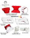Pack de démarrage Couches lavables insert et voiles de protection - Kit Floraison