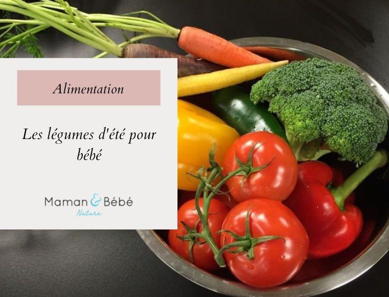 Zoom sur les légumes d'été pour bébé
