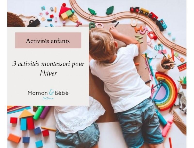 3 activités Montessori pour l'hiver